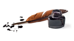 Ink well and feather